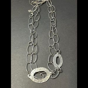 Silpada Hammered Oval Link Necklace